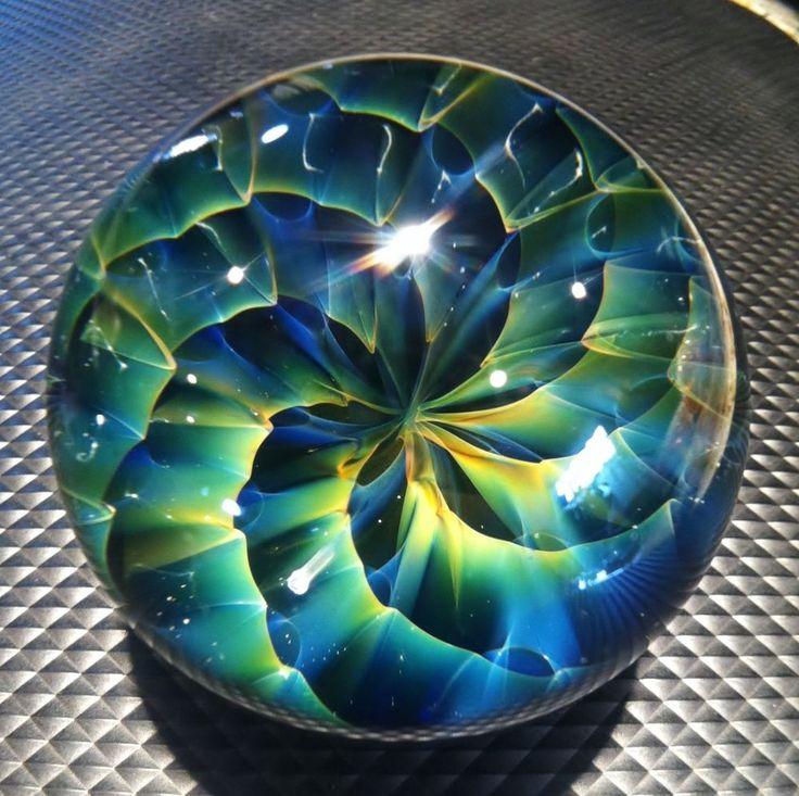 Handmade Marble by ~ Jason Holley ~ Borosilicate, Boro, Art MIB