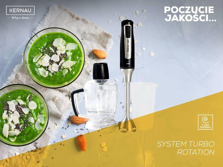 Prawą ręką każdego kucharza jest blender, który wyręcza w wielu sytuacjach :). My stworzyliśmy taki, który dokładnie miksuje potrawy podczas pracy urządzenia i posiada 20 stopniową regulacją mocy: http://bit.ly/Kernau_KSHB910B