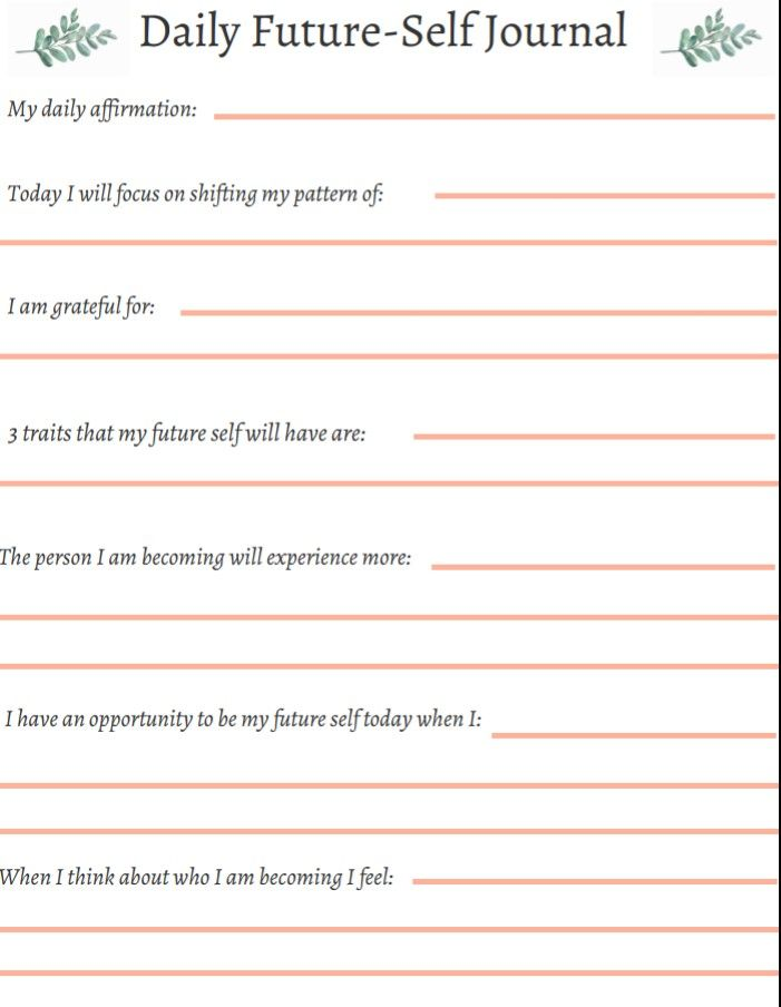 3 3 Future Self Daily Journal Prompt Letter To Future Self Gratitude Journal Prompts Journal Writing Prompts
