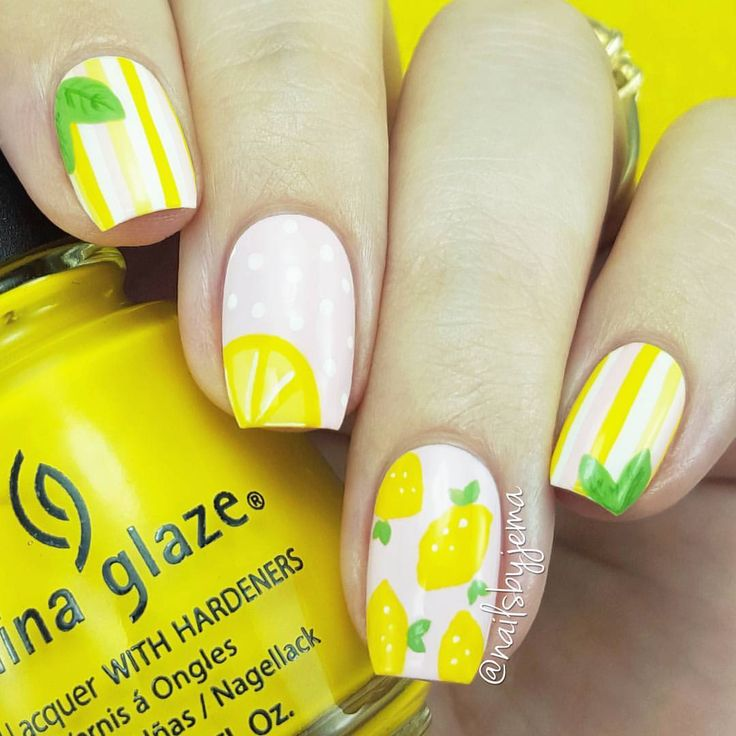 "A Nailie Named Jema ♡♡ on Instagram: ""Lemon nails inspired by Beyoncè and her total slayage of a new album. I also realised while doing these that I have only done watermelon nail art in the past so I think this is the beginning of a whooole lot of fruit nail art for the Northern Hemisphere Summer. You guys know my nails belong in the north of the planet!! Tutorial of these to come but the YouTube tutorial is uploading right now."