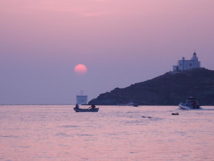 Sunset on Tzia island,Greece