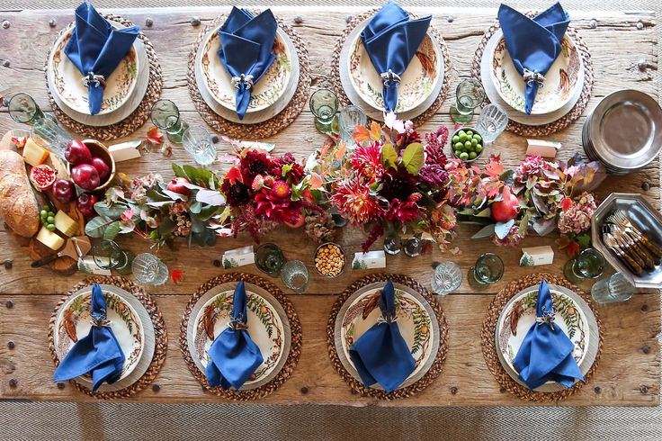 What's better than gathering around a big table with loved ones sharing delicious stories and special dishes? Love the vibrant jewel tones paired with our Forest Walk collection styled by @styleblueprintnville