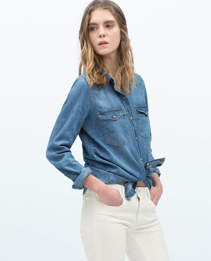 ZARA - TRF - DENIM SHIRT