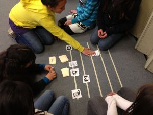 Floor Staff Races with Free Printable | Adventures in Music Teaching Blog