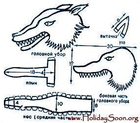 Выкройка карнавальный костюм волка