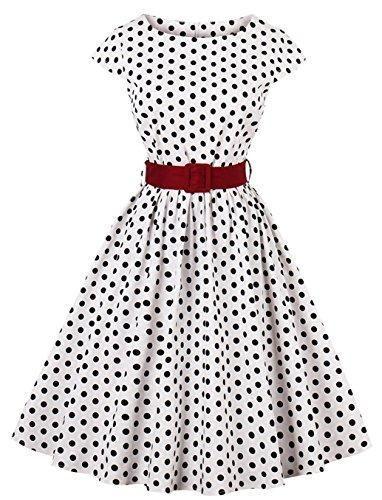 9d344327c8c 1950s Retro Vintage Hollywood Large Swing Midi Dress