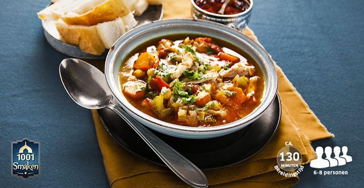 Recept voor Harira met kikkererwten, gemengde groente en harissa #Lidl