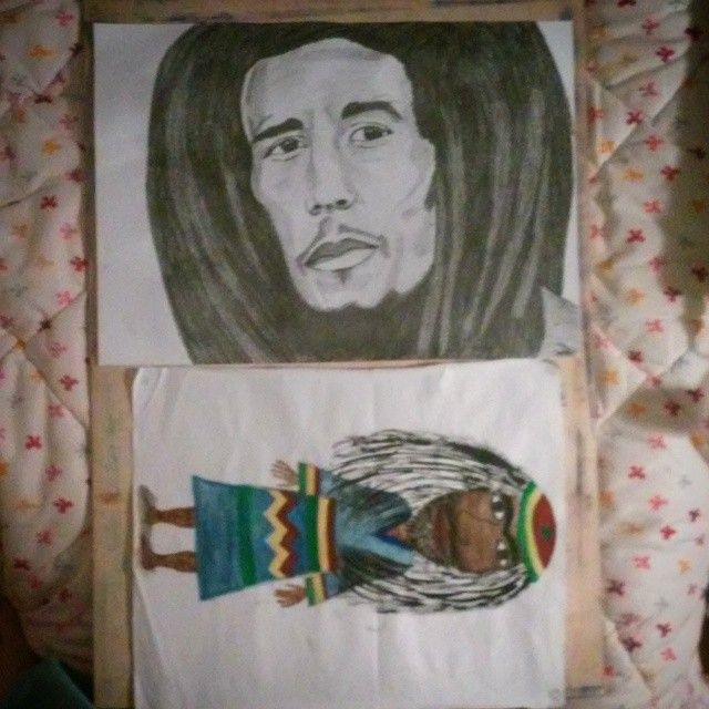 #tenyears #drawing #painting #BobMarley #reggae #rasta #rastafari