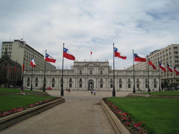 La Moneda - The Presidential Palace in Santiago, Chile