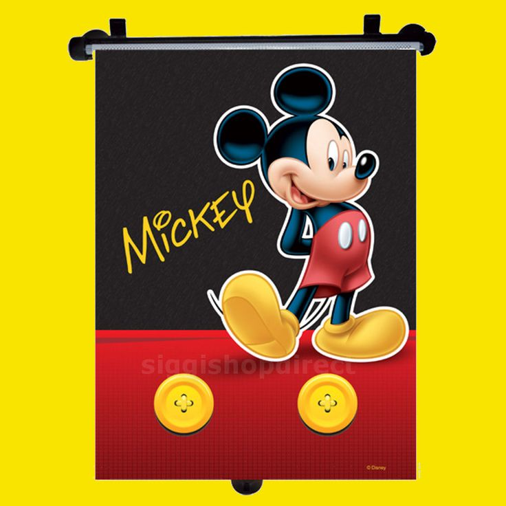details about disney mickey car window roller blind sun shade children kids baby boy girl 1pc