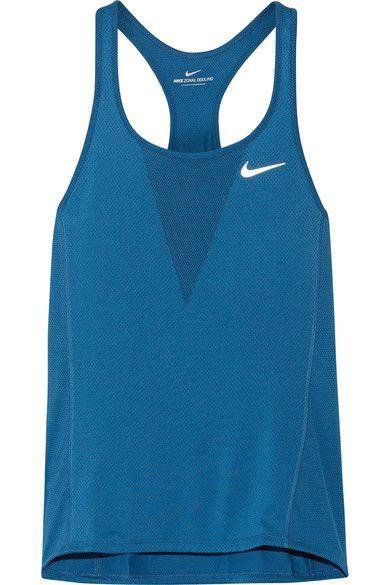 Nike - Zonal Cooling Relay Dri-fit Stretch-mesh Tank - Cobalt blue - x small