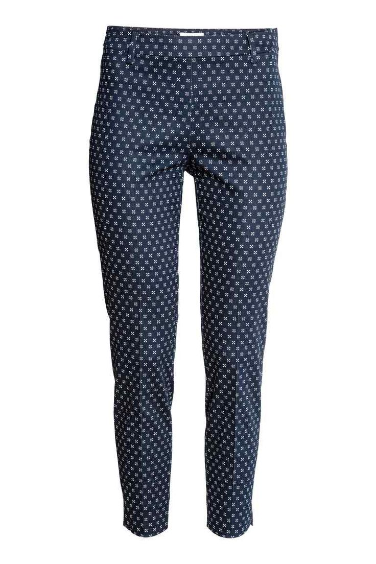 Cigarette trousers - Dark blue/Patterned - Ladies | H&M 15 $