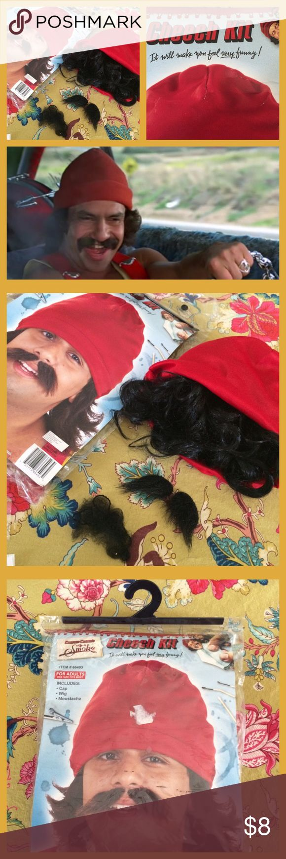 "Cheech Kit Costume Cheech Kit includes a red cap, built in wig, and mustache. Includes hair net. For Adults/One Size Fits Most. Based on Cheech & Chong's ""Up in Smoke"" movie. Thanks for looking! Novelties Inc. Other"