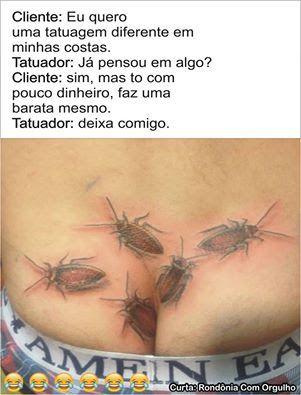 Imagem e Frases Facebook: As mais Engraçadas Aqui.: Tatuagem barata