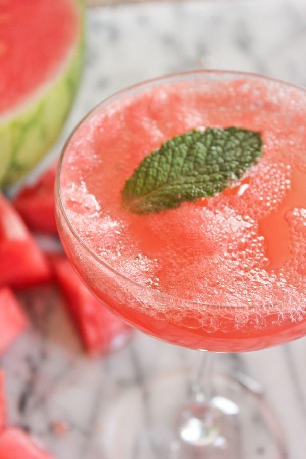 A Fabulous Fete: watermelon champagne cocktail