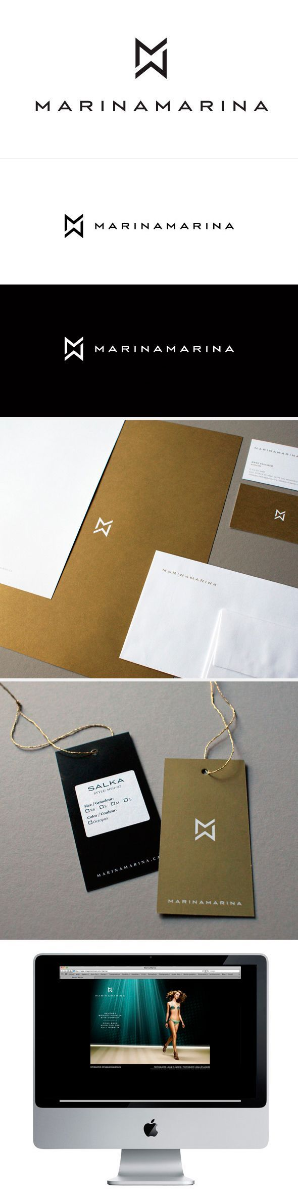 visual ID / marinamarina #branding #identity #design Uploaded by user