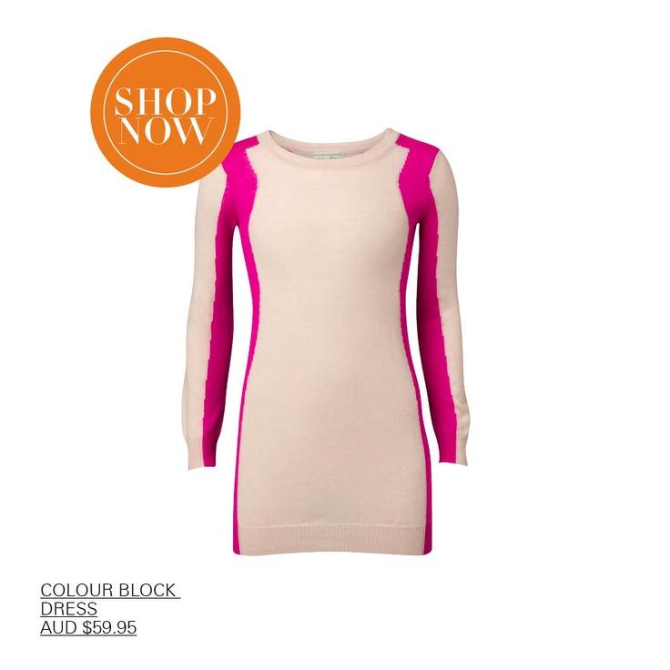 Colour crush - Magenta - love the stripe on this dress