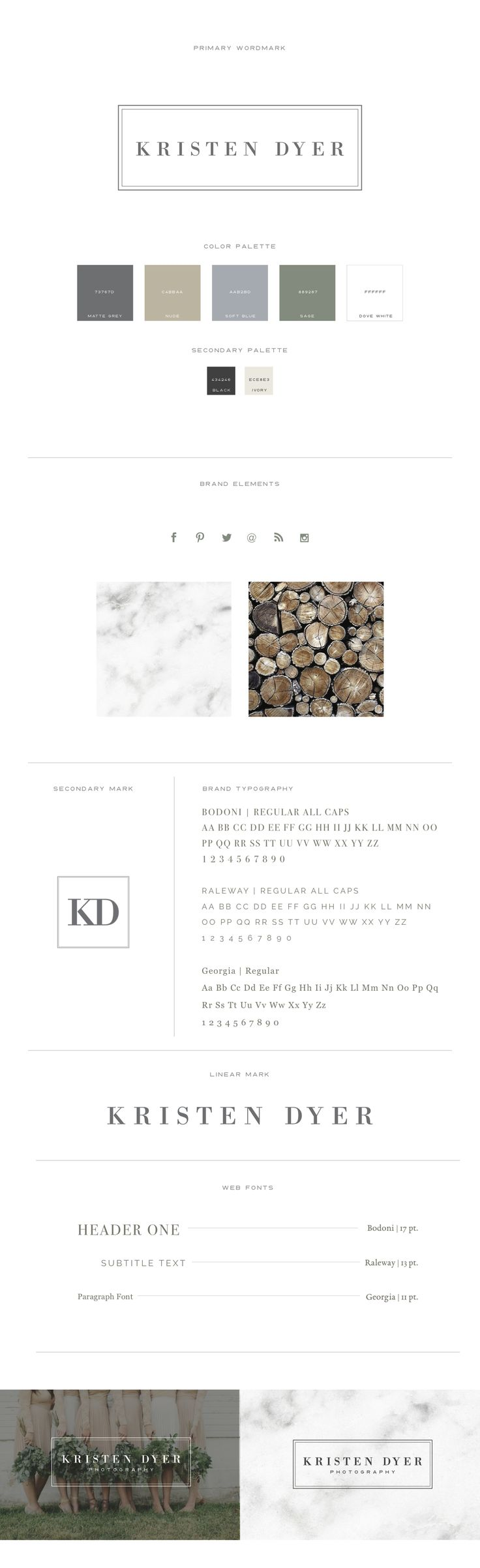 Brand Kits u0026 Mood Boards example for