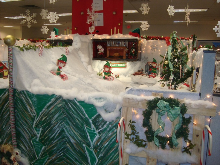 Work Pod Decorating Ideas Christmas : Best cubicle images on