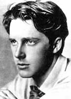 "Rupert Brooke - English poet Rupert Chawner Brooke was born in 1887. The son of the Rugby School's housemaster, Brooke excelled in both academics and athletics. He entered his father's school at the age of fourteen. ""These I have loved:  		White plates and cups, clean-gleaming,  Ringed with blue lines; and feathery, faery dust;  Wet roofs, beneath the lamp-light; the strong crust ..."" from 'The Great Lover'"