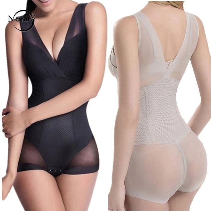 Women Shapewear Bodysuit Slip Body Shaper Firm Sexy Seamless Butt Lifter With Tummy Control Waist Trainer Corsets Underwear