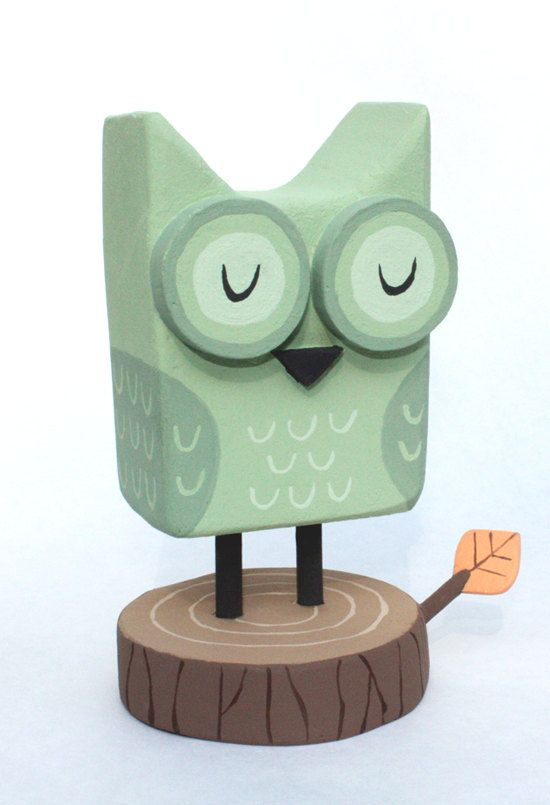 Green Wooden Owl