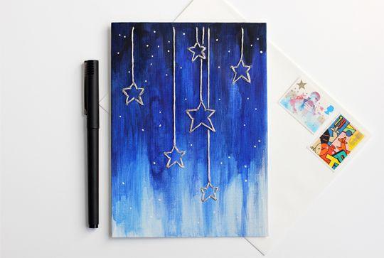 Inside My Hideaway: DIY Falling Stars Card