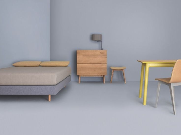 Download the catalogue and request prices of Miut basic by Zeitraum, double bed design Julia Fellner, Miut collection