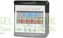 Reaktif güç kontrol rölesi  trifaze 12 kademeli LCD ekran   144 x 144 mm