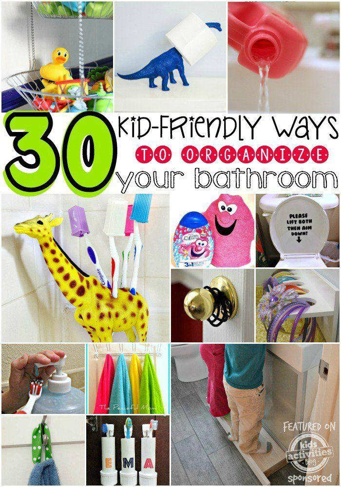 30-Kid-friendly-Ways-to-Organize-Your-Bathroom-Mr.-Bubble.jpg 700×1,000 pixels