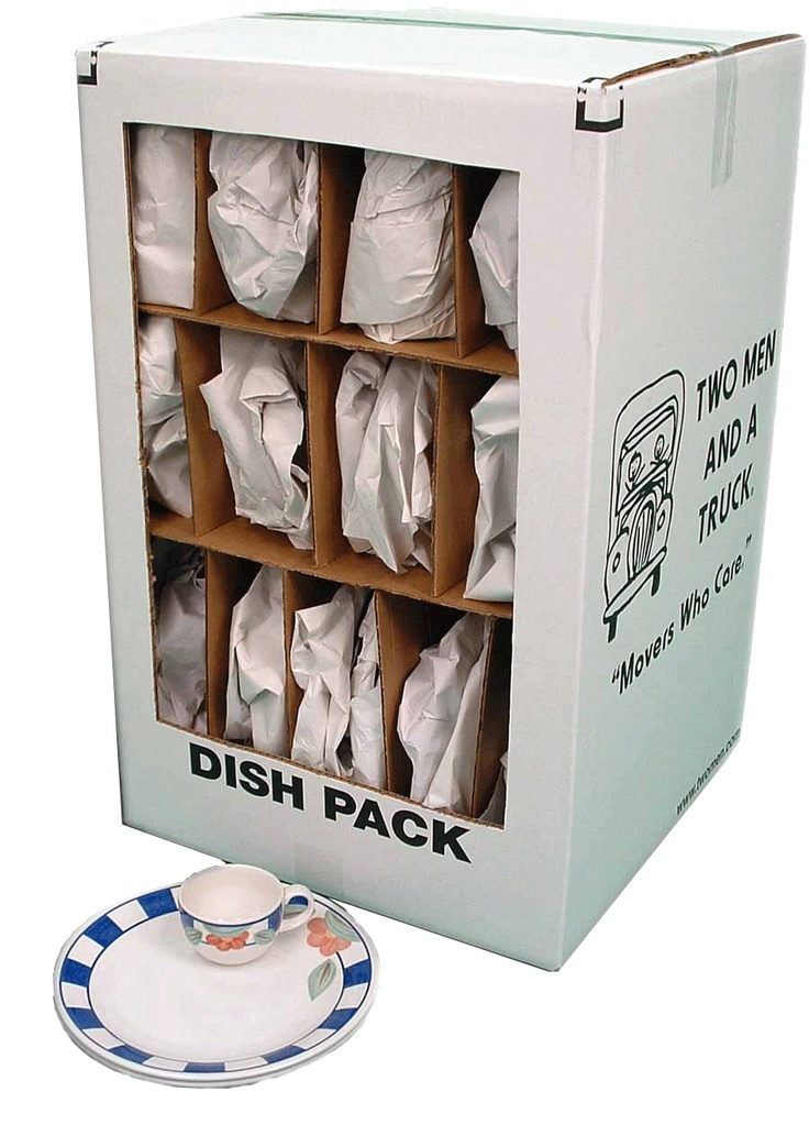 Worried about packing fine china? Use a dish pack box to