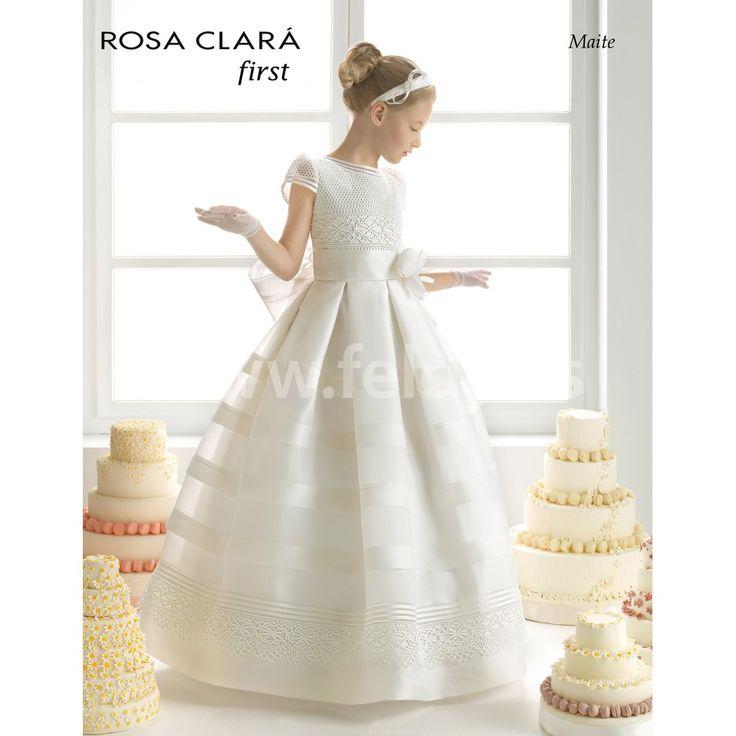 Vestido Comunión Rosa Clara 2015 Maite