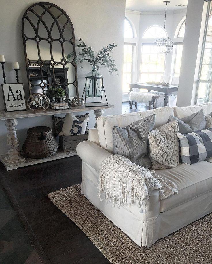 9 Dark Gray Couch Light Gray Walls For The Home Pinterest Modern Farmhouse Living Room Decor Farm House Living Room Living Room Decor Country