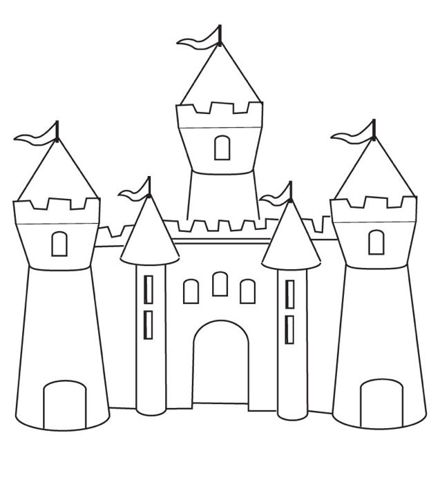 Print coloring page and book, Castle Coloring Page for kids of all ages. Updated on Saturday, April 5th, 2014.
