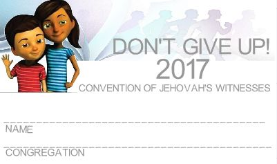 2017 JW Convention Badge with Sofia and Caleb for the young ones.