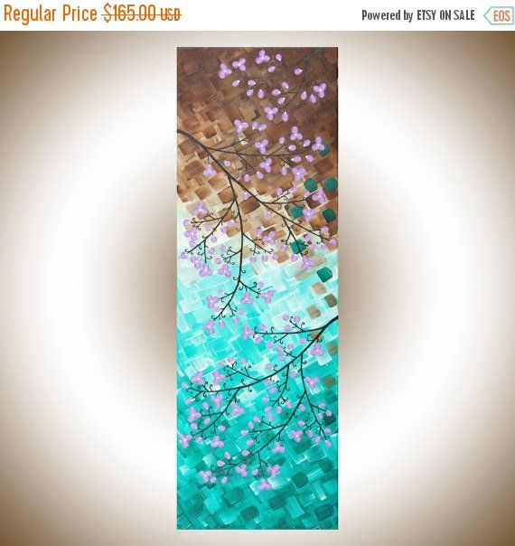 Art painting Colorful Abstract painting green Violet brown