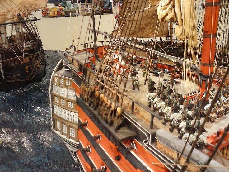 Diorama Barcos Santisima Trinidad Batalla Trafalgar 6