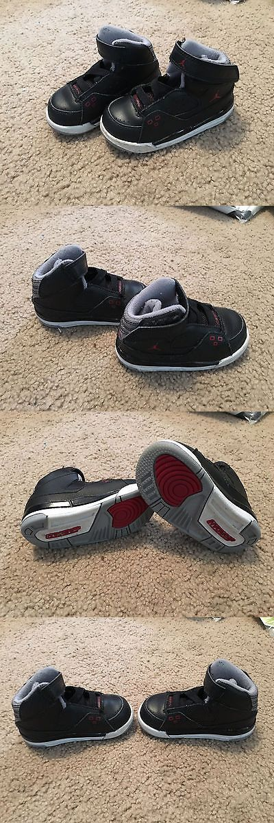 Michael Jordan Baby Clothing: Toddler Michael Jordan Shoes Size 6 Barely Worn Black White And Red BUY IT NOW ONLY: $34.99