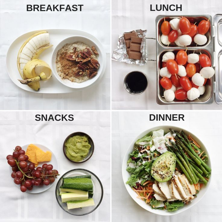 1600 Calorie Filling, High Protein Meal Plan with Oatmeal and Caprese Bites