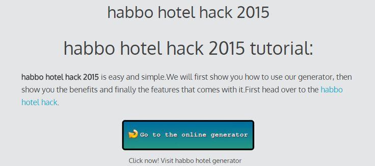 habbo hotel hack 2015 - online cheats generator