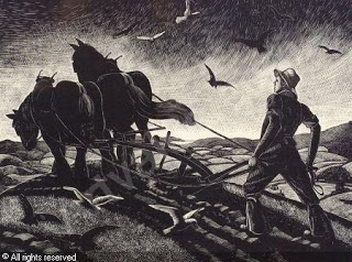 The Farmer's Year,    November (Wood cut),    Clare Leighton 1933