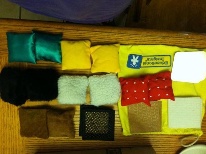 Montessori Matching textures sensory activity.