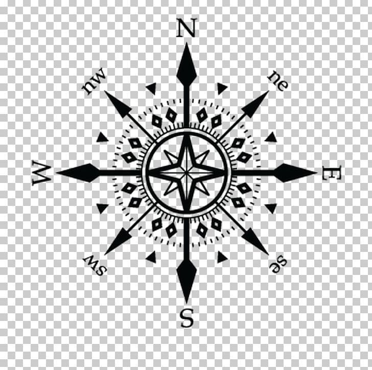 Wall Decal Graphics Tattoo Compass Rose Png Black Black And White Brand Cardinal Circle Compass Rose Compass Wall Decals