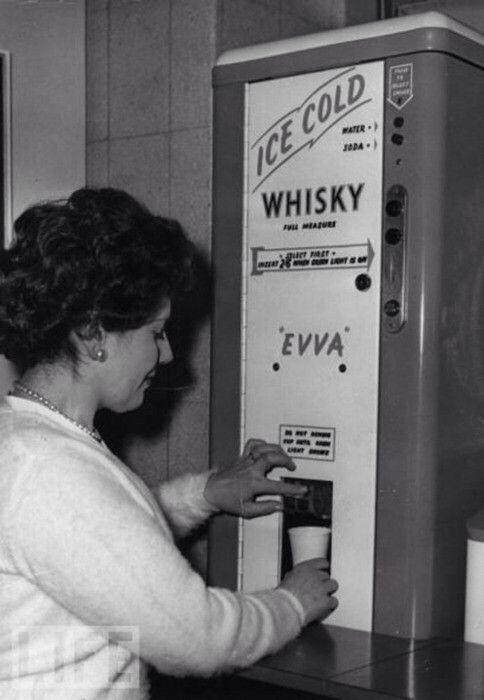 Ice cold whisky dispenser, 1950s