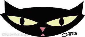 Pop Cat Head Sticker Decal Artist Shag Josh Agle SH20 | eBay