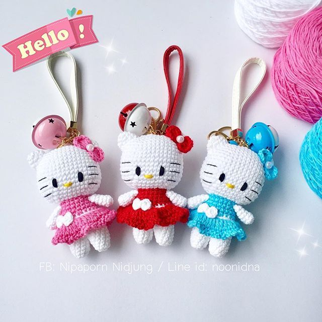 50+ Ideas Crochet Amigurumi Keychain Hello Kitty | 640x640