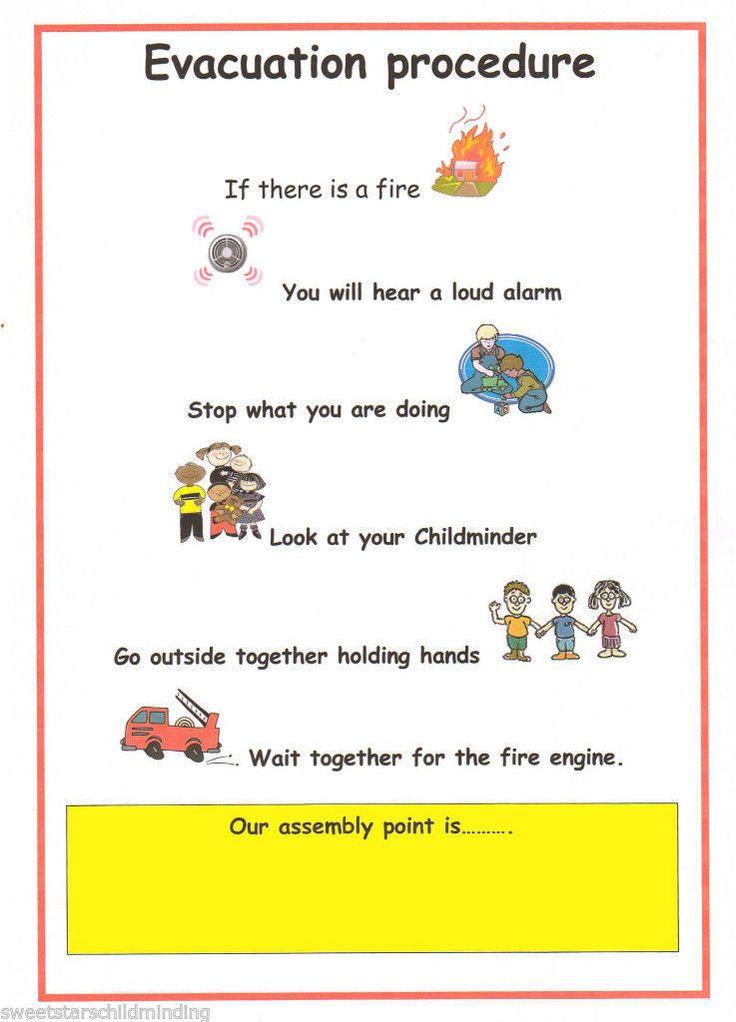 Childminder EVACUATION PROCEDURE POSTER Childminding EYFS | eBay