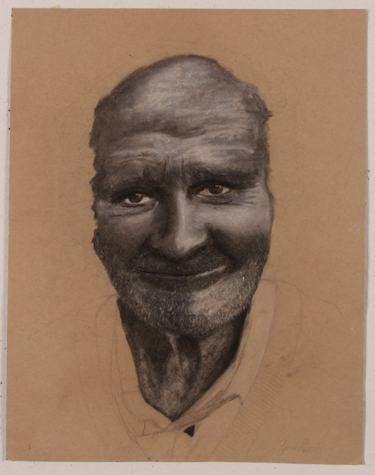 """""""smiling"""" Charcoal and Chalk 2014"""
