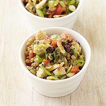 Mediterranean Wheatberry Salad with Tempeh