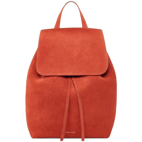 Suede Backpack (€765) ❤ liked on Polyvore featuring bags, backpacks, daypack bag, red backpack, day pack backpack, suede bag and knapsack bag